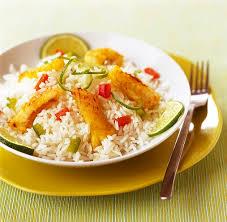 riz cuisiné riz thaï cuisiné à la lotte aux poivrons et au citron vert le