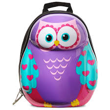 Big W Home Decor Owl Hardcase Backpack Big W Idolza