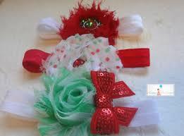 baby girl headband shabby christmas headband sets baby 1st christmas baby