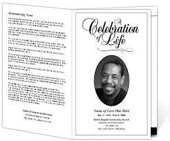funeral bulletin memorial service program template classic funeral bulletin