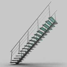 glass stairs model