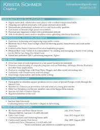 Resume Qualities by Creative Director Resume Samples Free Resumes Tips