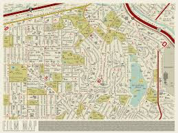 Griffith Park Map A Retro Map Of La Is Reimagined With Film Titles Curbed La