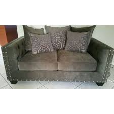 2 piece cindy crawford u0027s gray chenille sofa and love seat found on