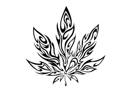 outline pot leaf tattoo sample photo 2 2017 real photo