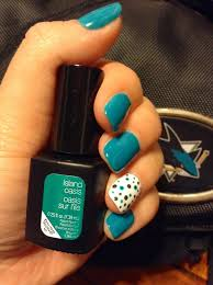 nail design diy nails sensationail island oasis polka dot