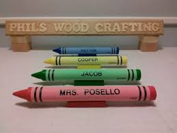 crayon nameplates for your favorite teacher or for a friend or for your child s desk at