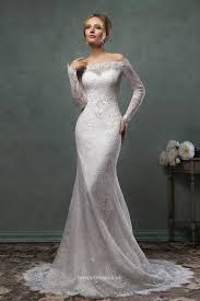 wedding dresses with sleeves uk destination mermaid the shoulder lace sleeves wedding