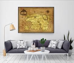 Oblivion Map Skyrim Skyrim Map Elder Scrolls Map Tamriel Map Morrowind