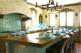 Mexican Style Home Decor Turquoise Tile Kitchen