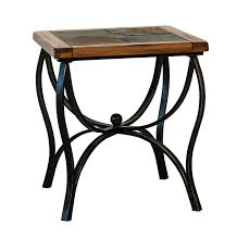 Sofa Mate Table by Amazon Com Sunny Designs Sedona Slate Metal End Table In Rustic