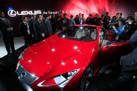lexus lf lc concept video detroit mi lexus unveils lf lc hybrid a concept sport coupe
