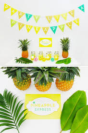 Summer Party Decorations Pineapple Party Decorations Props Tropical Party Hawaiian Luau