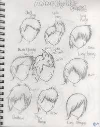 anime guy hair set by tomcolt15 on deviantart