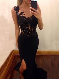 simple graduation dresses buy mermaid scoop chiffon black evening prom dress with