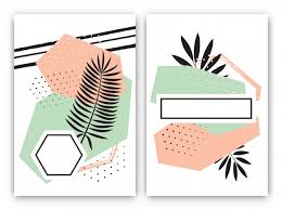 set of tropical cards in style vector free