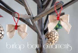 burlap bow ornaments 101 days of your way