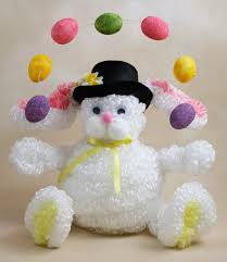 chenille easter juggling loopy chenille easter bunny ellet cog craft nights