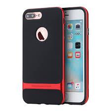 rock hybrid pc tpu anti fingerprint case for iphone 7 plus 8 plus