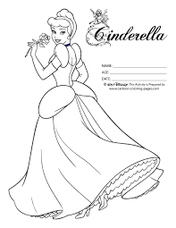 cinderella coloring sheet