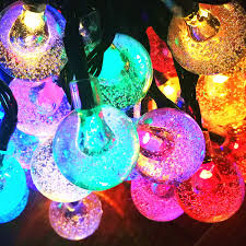 outdoor string lights solar amazon com solar string lights sogrand 60 led outdoor string