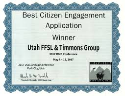 Wildfire Map Utah by Uwrap Wins Award For Best Citizen Engagement Application Timmons