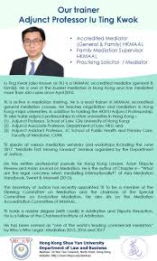 Who Is A Professional Secretary Mediation Course Department Of Law And Business Hong Kong Shue