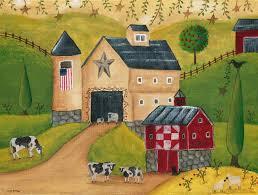 primitives and antiques american folk art original painting