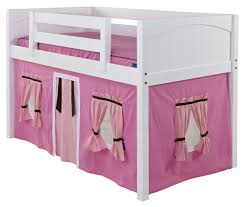 Maxtrix Hot Pink Light Pink  Brown Curtain For Low Loft And Bunk Bed - Pink bunk bed