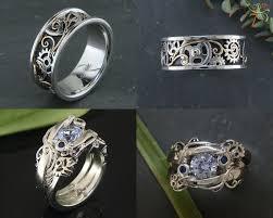 steunk engagement ring engagement ring steunk wedding set custom setting with