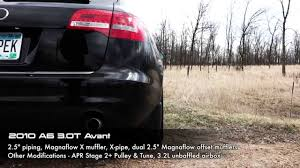 apr audi a6 2010 a6 3 0t avant 2 5 downpipe back exhaust tips not