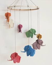 mobile kinderzimmer origami falten blume sterne tiere als deko im kinderzimmer