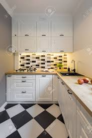 black and white kitchen floor images small kitchen with modern black and white floor tiles