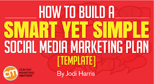 how to build a smart yet simple social media marketing plan template