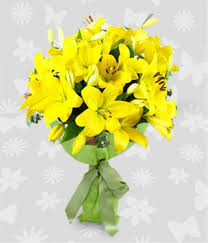 Yellow Lilies Dozen Of Yellow Lilies