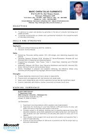 sample resume for ojt engineering students resume samples
