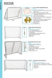 easy fold soccer goal 8 x 6 sg86 soccer goals foldup and popup