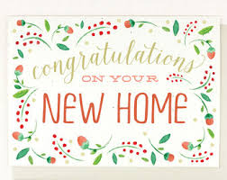 congrats on new home new home card moving card watercolor