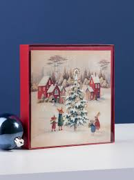 10 santa with bunnies christmas boxed cards clintons