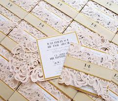blush and gold wedding invitations quartz laser cut wedding invitations blush gold wedding