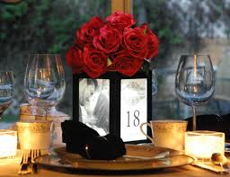 decoration fascinating black and white wedding table decoration
