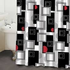 Red Black Shower Curtain Red And Black Urban Beat Curtain For Shower Useful Reviews Of