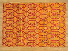 Orange Modern Rug by 5 5 U0027 X 8 U0027 Sari Silk Modern Orange Zero Pile Oriental Rug Hand