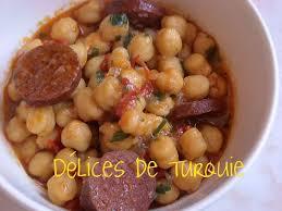 recette cuisine turc pois chiches au sucuk sucuklu nohut délices de turquie et d