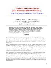 Va Power Of Attorney by Minnesota Durable Power Of Attorney For Health Care Best