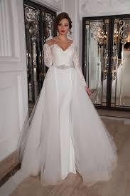 column wedding dresses detachable v neck court tulle sheath column wedding