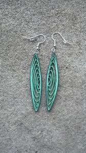 eco friendly earrings eco friendly green dangle earrings paper quilling sweethearts