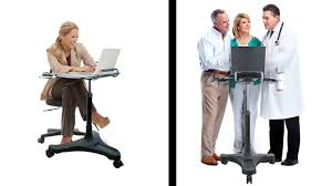 feature demonstration for mobile standing desk