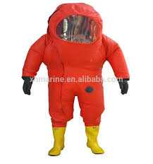 Incredible Halloween Costume Fire Fighting Totally Enclosed Rubber Chemical Protective Suit
