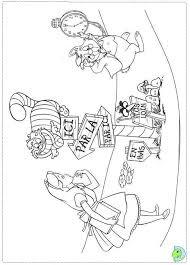 marvellous tim burton alice wonderland coloring pages